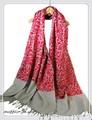 【セール】オリジナル全面刺繍インドカシミールウール・ アーリ刺繍ストールIN237