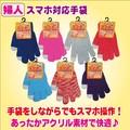 【秋冬新作】婦人 スマホ 対応 手袋(フリーサイズ)