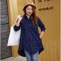 大きいサイズ☆フィッシュデザインチュニックシャツ LL~4L