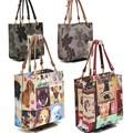 ねこ柄 花柄 手提げバッグ<クラシカルアソート2>低価格帯 猫柄