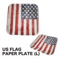 US フラッグ ペーパ−プレート(L) アメ雑 アメリカン雑貨 国旗 星条旗 紙