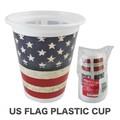 US フラッグ プラスチックカップ アメ雑 アメリカン雑貨 国旗 星条旗 プラ コップ