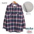 ◆2016AW◆裏ボア付ビエラチェックシャツ/myke/AW