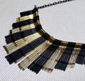 ☆大人気・黒・ゴールド・メタル二色・デザインネックレス