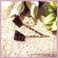 ○かわいい チョコヘアピン○