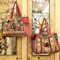 バンジャラミラーワーク刺繍 トートバッグ 全2種