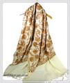 オリジナルゴージャス全面刺繍インドカシミールウール・ アーリ刺繍大判ストール IN233