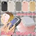 【大人気!】フェイクファーiPhone6ケース カバー【crescent moon】