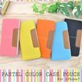 <スマホケース>【399シリーズ!】カラフル5色♪ iPhone7用パステルカラーケースポーチ