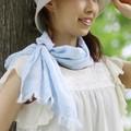 【ガーデニング・ウォーキングに!】 たおるマフラー・ミニ(リング付き)今治タオル認定商品<日本製>