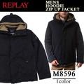 ◆お買い得秋冬商材◆★大特価★REPLAY リプレイ メンズ ボア着脱可 中綿ジャケット<ラスト1点>