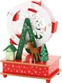 【クリスマス】木製観覧車オルゴール (RD/YE)