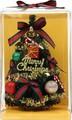 【クリスマス】ライト付きテーブルツリー 24cm キャンディーケーン