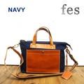 【fes/フェス】キャンバス素材×カウレザー2wayハンドバッグ