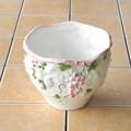 ポルトガル製  陶器 フルーツ  《底穴あり》 ピンク  ブドウ柄 ガーデニング 売れ筋