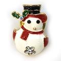クリスマス商材☆キラキラピンブローチ タックピン☆ミニミニスノーマン おしゃれ雪だるま