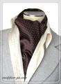 エレガント袋縫いプリント柄メンズ用100%シルクスカーフ 10113