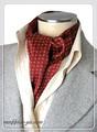 エレガント袋縫いプリント柄メンズ用100%シルクスカーフ 10115