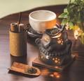 ◇母の日おすすめ◇お部屋の消臭に!■常滑焼【茶香炉】山房黒ネコ茶香炉