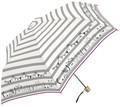 NEW☆2017SS★婦人雨傘【ボーダー&CAT】★55cm折畳耐風傘★♪