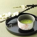 ■【抹茶碗】カネ仁白化粧ピンク桜小抹茶