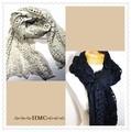 まだまだ寒い 冬物SALE 模様編みニットマフラーAタイプ 2Collar