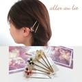 【aller au lit】エポ&ワイヤーフラワーヘアピン・2本セット