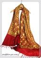 【セール】オリジナル全面刺繍インドカシミールウール・ アーリ刺繍ストール IN287