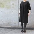 KOTYTO ワンタックブラックドレス