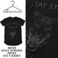◆お買い得春夏商材◆★大特価★Berna ITALIA ベルーナ センタープリント 半袖 Tシャツ<STAY STRONG>
