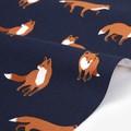 【生地】【布】【コットン】WINTER FOX - winter fox キャンバス生地 デザインファブリック