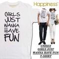 ◆お買い得春夏商材◆★大特価★Happiness ハピネス  ユニセックス Tシャツ<GIRLS JUST>