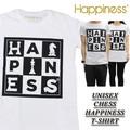◆お買い得春夏商材◆★大特価★Happiness ハピネス ユニセックス 半袖 Tシャツ<CHESS HAPPINESS>