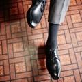 < London shoe make Oxford and Derby> 【牛革】マッケイ製法 メンズ 外羽根プレーントゥ 1002