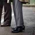 < London shoe make Oxford and Derby> 【牛革】マッケイ製法 メンズ 内羽根プレーントゥ 3002