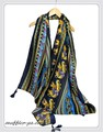 【セール】ふんわり柔らかアニマル象柄ツイル大判ストール/スカーフ  92311