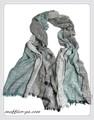 男女兼用しわ加工無地3色グレイッシュカラーコットンストール/スカーフ  7234a