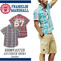 【激安!】◆お買い得春夏商材◆FRANKLIN フランクリン メンズ 半袖 チェックシャツ<ラスト2点>