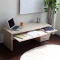 【予約販売6月下旬入荷待ち】ロータイプデスク ダブルスライドテーブル仕様 120cm幅 メイプル