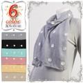 【ストール春夏】【セール】チェーン刺繍 綿混 ドットストール