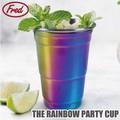 【アントレックス】パーティーの主役になるオシャレなカップ♪【レインボーパーティーカップ】