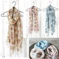 【春らしい色合いが差し色にぴったり】スカーフ マリエットフラワー