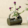 ■常滑焼【花器】山田織部手付き花器