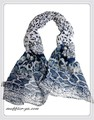 ガーゼ風ワイルドなアニマル柄100%コットン大判ストール/スカーフ 7331b【母の日】