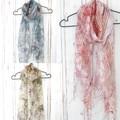 【優しい透け感の春色ストール】シルク混スカーフ シアーフラワー