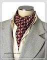 エレガント袋縫い幾何学柄メンズ用100%シルクスカーフ 10128