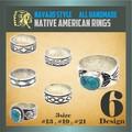 【新作】 ナバホ スタイル リング 指輪 ブラス ハンドメイド ネイティブ ターコイズ 真鍮 ユニセックス