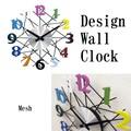 【壁掛時計】デザインウォールクロック[メッシュ]