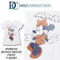 ◆お買い得春夏商材◆★大特価★DRIZ CONNECTION レディース ディズニー ミニープリント Tシャツ