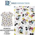 ◆お買い得春夏商材◆★大特価★DRIZ CONNECTION レディース ディズニー ミッキー&ミニー Tシャツ